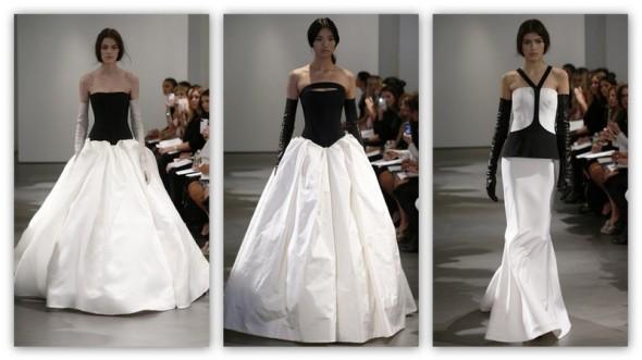 Vera Wang blanco y negro
