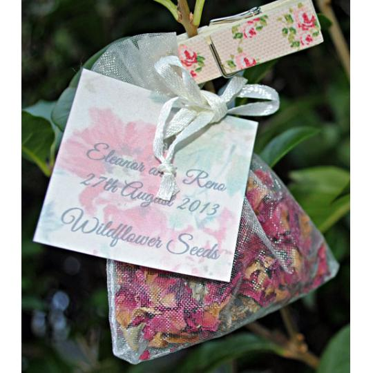 Bolsitas de semillas de Wildflower Favours