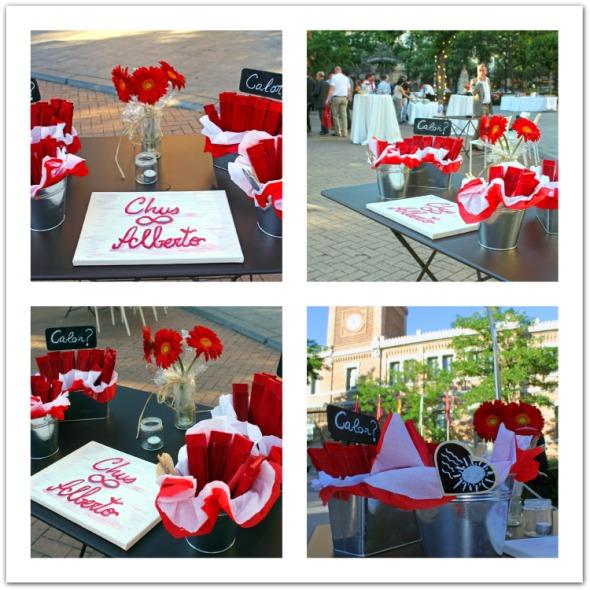 Mesa de abanicos boda casa arabe
