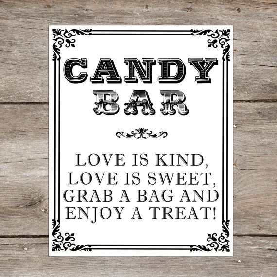 Letrero Candy bar